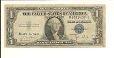 1935D  $1  SILVER CERTIFICATE  M 6091 4204 G ... NARROW