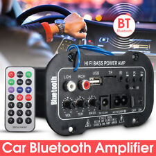 80W Bluetooth Subwoofer Car Stereo Audio HiFi Amplifier Board MP3 TF USB 12V/24V