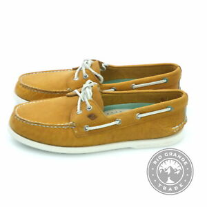 NEW Sperry Men's A/O 2 Eye Richtown Slip On Loafers in Tan Leather - 10