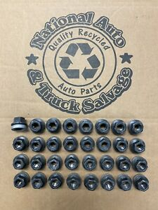 2003 -2020 FORD SUPER DUTY F250 F350 BLACK Lug nuts factory OEM 14 x 1.5 mm