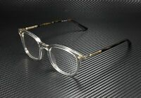 GUCCI GG0390O 003 Square Grey Havana Gold Demo Lens 50 mm Men's Eyeglasses