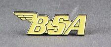 Metallo Smalto Spilla Badge spilla BSA Logo Bici Moto Giallo