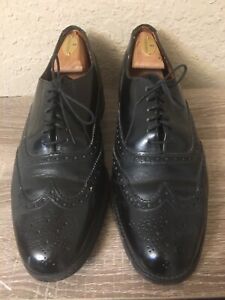 Grenson Black Leather Wingtip Shoes Made In England US Men's 10 D