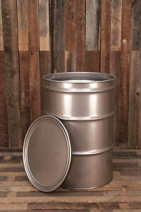 55 Gallon Stainless Steel Drum Barrel  Open top New