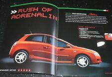 FIAT STILO SPORT ABARTH & SCHUMACHER LIMITED EDITION. BROCHURE DEC 2005. EXCELNT