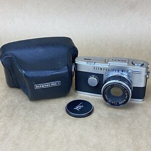 Olympus Pen-FT W/ 38mm 1.8 Zuiko Lens & Leather Case - HALF FRAME CAMERA