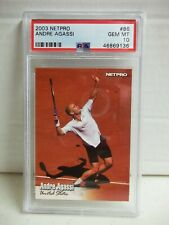 2003 Netpro Andre Agassi PSA Gem Mint 10 Tennis Card #86 ATP Pop 10