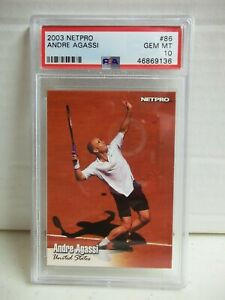 2003 Netpro Andre Agassi PSA Gem Mint 10 Tennis Card #86 ATP Pop 10
