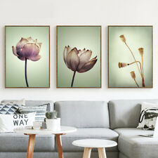 Lotus Flower Plants Canvas Poster Abstract Prints Nordic Art Wall Home Decor