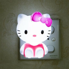 Hello Kitty LED Night Light Energy Saving Nursery Room Bedside Plug-in Wall Lamp