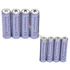 4 Aa 3000 Mah + 4 Aaa 1800mah 1.2 v Ni-mh Batería Recargable De 2a 3a Gris Celular