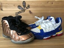 Nike sz 12C Lot LeBron 16 3 Superbron Penny Foamposite One Copper White Black