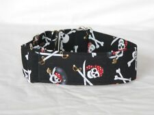 "2""  Martingale Dog Collar Skull and Crossbones"