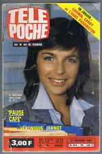 ▬►TÉLÉ POCHE 783_1981 VÉRONIQUE JANNOT_LINE RENAUD_CHANTAL GOYA