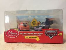 Disney Store CARS Die Cast Cars with NEON Lights - Snot Rod & Boost - RARE NIB