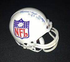 MORRIS RED BADGRO SIGNED NFL MINI HELMET HOF GIANTS AUTOGRAPH JSA LOA