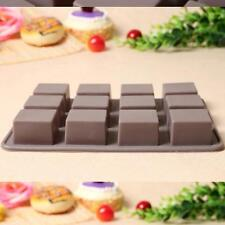 12 Square Silicone Cake Mold Fondant Chocolate Cookie Candy Mould Bakeware - SS