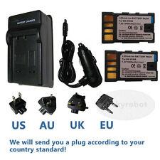 2 x batería + Cargador Para Jvc Bn-vf808u Bn-vf815u Bn-vf823u gz-ms95 videocámara