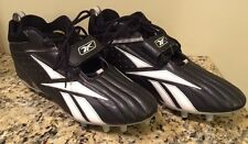 Mens Black White Reebok Official NFL Equipment New Football Cleats Size 15