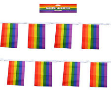 Rainbow Flag Bunting 11 Rectangle Flags 12 Feet LGBT Gay Pride Parade Party
