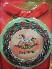 Personalized Metal Christmas Ornament, BRIANNA Magnet w Photo Insert  4-in-1 NEW