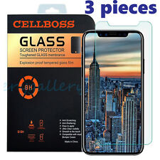 Premium Real Film Tempered Glass Screen Protector Cover Saver for Apple iPhone X