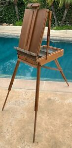 Vintage Wood Tin Lined  #386  Grumbacher Artist Travel Easel