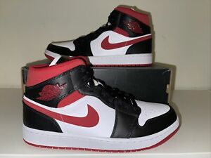 Nike Air Jordan 1 Mid - Gym Red Black White - UK 8