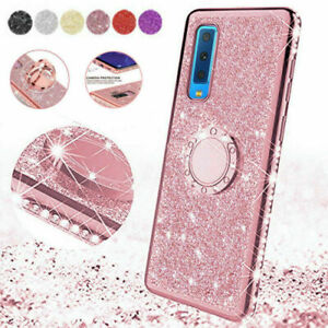 Ring Holder Bling Diamond TPU Case Cover for Samsung Galaxy A6 A8 S8 S9 S10 Plus