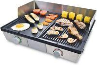 Solis Deli Grill 7951  Piastra in acciaio inox - 2 piatti per carne, pesce