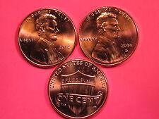 Lincoln Shield Cent Set Brilliant Uncirculated Gems 2014 P/&D