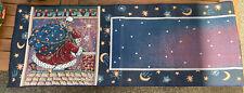 mary engelbreit Table Runner 64� Believe Santa Claus Christmas Moon Stars Me
