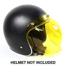 d7ed1d8b Vintage Bubble Shield Mask Visor Yellow NOS for 3/4 Open Face Motorcycle  Helmet