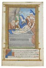 Livre imprimé d'heures Leaf: lumineux Miniature C1500 la mise au tombeau du Christ