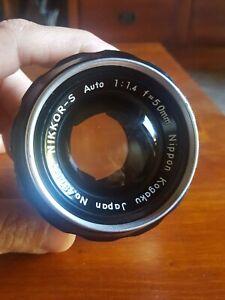 Obiettivo Nikon Nikkor 50mm f/1.4 manual lens