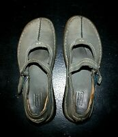 Camel Active Womens Green Leather Shoes Mary Jane Flats EU 39 UK 5.5 US 8