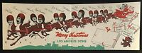 1940'S INSANELY RARE ORIGINAL LOS ANGELES DONS FOOTBALL TEAM CHRISTMAS CARD!!!!!