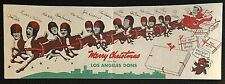 1940'S INSANELY RARE ORIGINAL LOS ANGELES DONS FOOTBALL TEAM CHRISTMAS CARD!!!!!