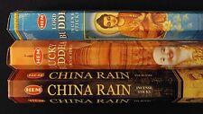 LORD BUDDHA Lucky China Rain 60 HEM Incense Sticks 3 Scent Sampler Gift Set
