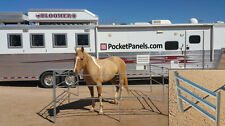 Galvanized Portable Horse Corral Panels (set of 4)