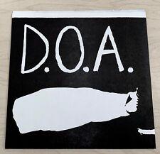 "D.O.A. Disco Sucks (1978) 7"" Single No Label Re-Issue Canada PUNK Rare"