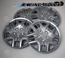 """#025 Replacement 16"""" Inches Metallic Silver Hubcaps 4pcs Set Hub Cap Wheel Cover"""