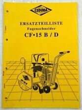 Cedima CF-15.2D CF15-B Fugenschneider Ersatzteilliste Parts List 07/1998