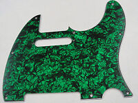 D'ANDREA PRO TELECASTER PICKGUARD 8 HOLE GREEN PEARLOID MADE IN THE USA