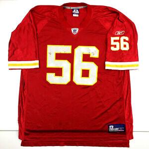 Kansas City Chiefs Mens Jersey Derrick Johnson #56 Reebok On Field Football 2XL
