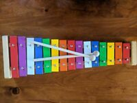 15 KEY  STEEL  XYLOPHONE /GLOCKENSPIEL wooden frame with sound chamber