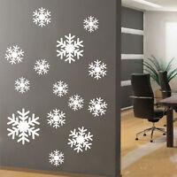 Copos de nieve Mural pared ventana adhesivo pegatina de vinilo vacaciones