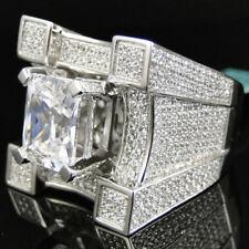 Wedding Engagement Ring Size 7,8,9,10,11 Fashion Man Women Gold Filled