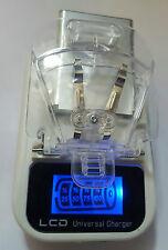 Universal Akku Charger Ladegerät für Handy-Kameraakku, LCD Anzeige und USB-Port