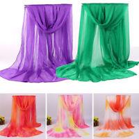 Fashion Women Long Soft Wrap Lady Shawl Chiffon Scarf Oversize Beach Scarves
